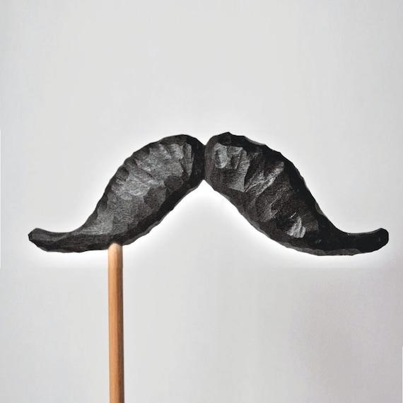 mustache on a stick. THE BARTENDER