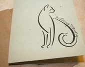 Plantable pet sympathy card for cat lover grow catnip when recycled and planted