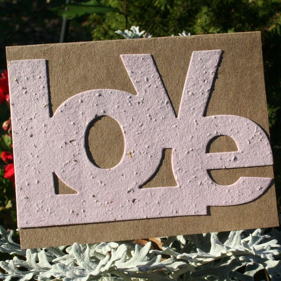 LOVE does grow - in a plantable greeting card
