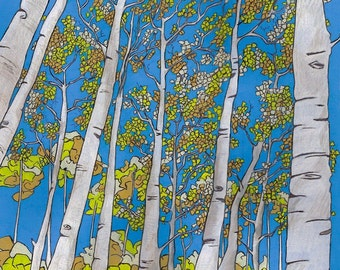 ASPEN TREES  - Open Edition landscape print 10x10