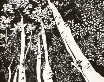 Aspen - MODERN illustration 8x10 Open Edition Print