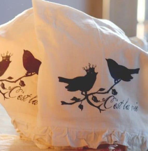 Cest la Vie - Birds - Tea Towel