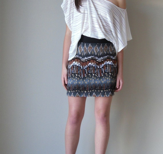 Tribal pencil skirt. available in small