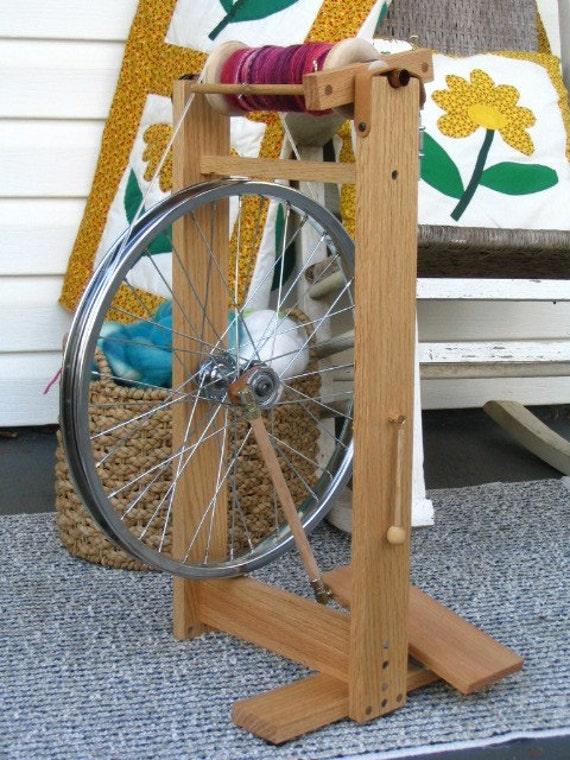 Handmade modern spinning wheel fidelis by heavenlyhandspinning for Making bicycle wheels
