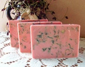 Rose And Sandalwood Olive Oil And Shea Butter Cold Process Soap - kimshandmadegoodies