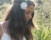 ivory pretty-hippy wrap headband