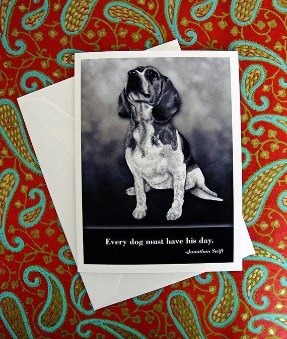 Dog quote card: Beagle / Jonathan Swift wisdom