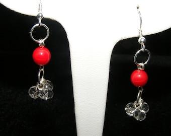 Cherry Rain Earrings 1.00 to Breast Cancer