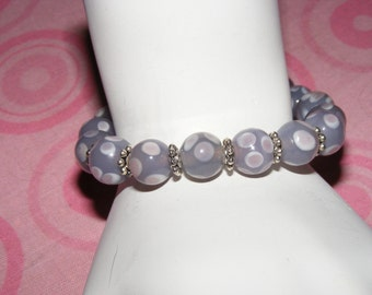Purple Bubble bracelet 1.00 to Breast Cancer