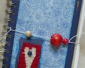 Journal - vintage papers - ephemera - heart - hand stitching - vintage loving