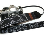 SLR, DSLR Camera Strap - Embroidered Keyboard Geekery, Reversible by HowardAvenue