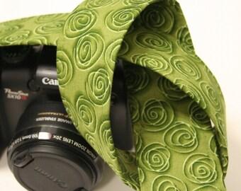 Camera Strap - Green Swirls - SLR, DSLR
