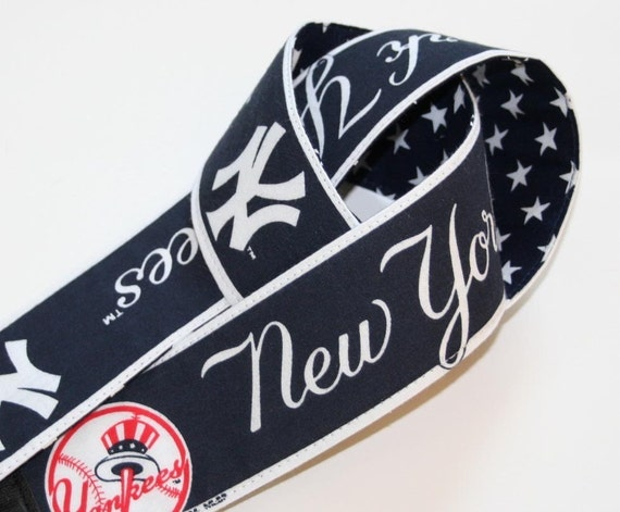 DSLR Camera Strap  -  Rare New York Yankees Vintage Script Logo - Handmade