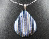 Retro pendant - Sterling silver pendant Custom designer jewelry Australian Designer MSIA team jewellery