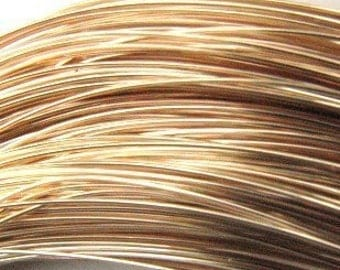 14ktgf round soft 21gauge wire (10 FEET) Gold filled 14 karat