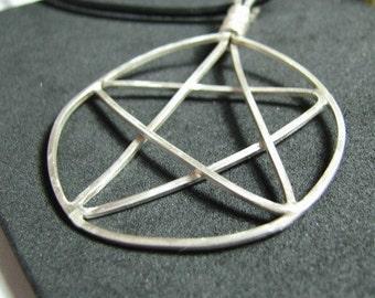 Sterling silver handmade pentagram