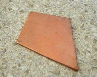 Genuine Copper stamping kite shape - Large