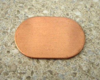 Genuine Copper stamping dog tag shape make your own stamping