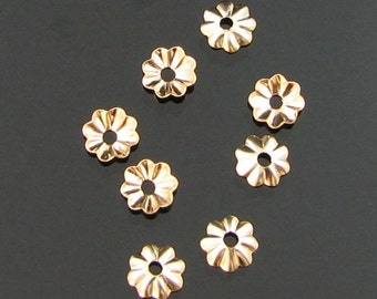 Sterling Silver 7mm bead caps