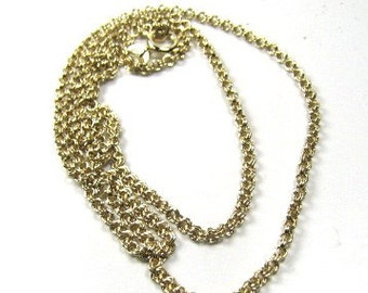 14/20KT Gold Filled Double Cable Chain 18 inches