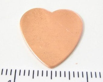 Heart Copper blank for stamping or just as is.