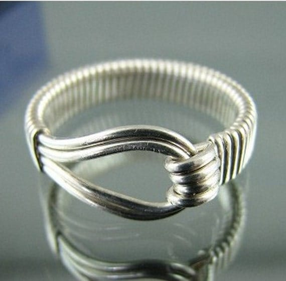 Sterling silver wire wrapped oxidized ring