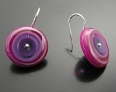 Circle Earrings in Pinks and Purples