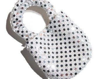 Disco Silver Soft Soled Baby Shoes NB
