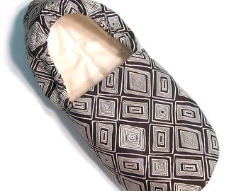 Wonky Tiles Adult Slippers (matching baby available!)