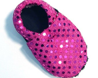 Disco Pink Soft Soled Baby Shoes NB