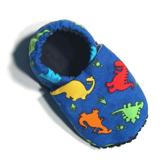 Blue Dinosaurs Soft Soled Baby Shoes 18-24mo
