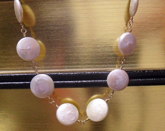 Helen of Troy - Coin Pearl and Gold Necklace
