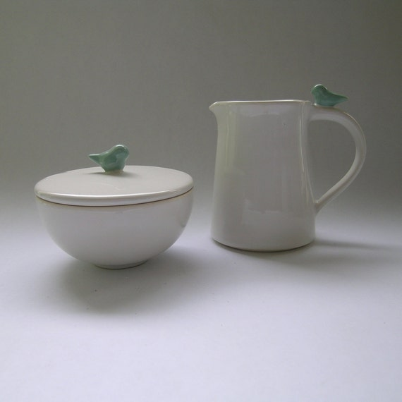 Wedding Registry for Helper-Welch Bird Sugar and Creamer Set