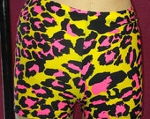 25% off Neon leopard print shorts, Sizes sml, med, lrg
