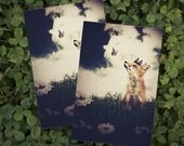 Fox Art, 4x6 Woodland Postcard, The Little Fox Prince