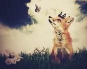 Fox Print, The Little Fox Prince, 5x7 Inch Print, Fox Art
