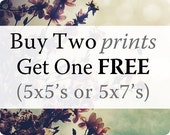 Small Prints: Choose Any 3 5x5 or 5x7