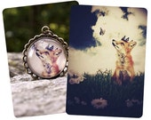 GIFT SET: Little Fox Prince 8.5x11 Print and Pendant Necklace Set