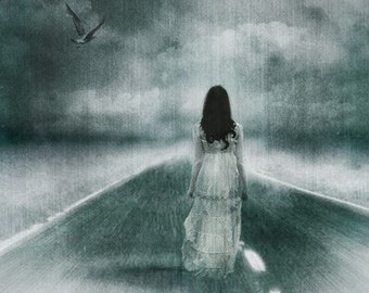 Spirit Walk: Haunting, Halloween Art Print