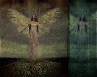 Angel Art Print, Notions of Heaven, 5x5 inch Print