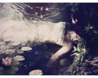 Ophelia Inspired Print, Sleep to Dream, FairyTale Art Print