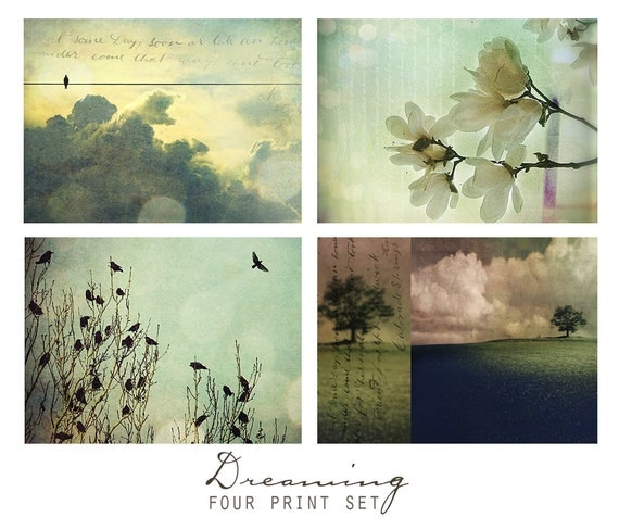 Dreaming, Set of Four Nature Art Prints -  Wall Art Grouping, Print Set