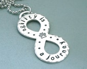 Dog Agility Infinity Necklace - agility is a journey - Hand Stamped Sterling Silver - Canine Agility Jewelry