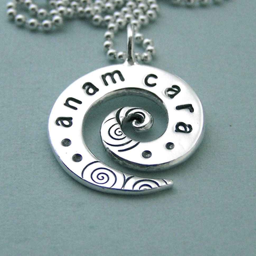 anam cara sted sterling silver spiral necklace