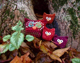 DOWNLOADABLE PDF PATTERN - Owlies & Owlettes Crochet Pattern