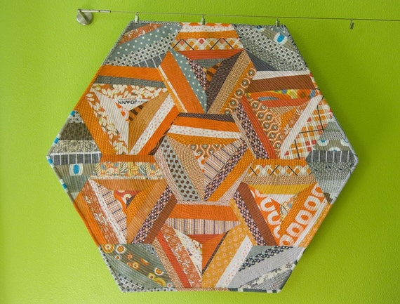 Hexagon String Baby Quilt