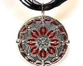 Round Stained Glass and Filigree Pendant  (SGV-P2)