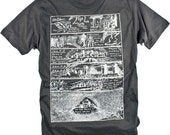 Dark Ages Medieval History Vintage Illustration Graphic Tee (S,M,L,XL,XXL available)