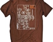 Schematic of Moog Synthesizer Music Analog T-shirt