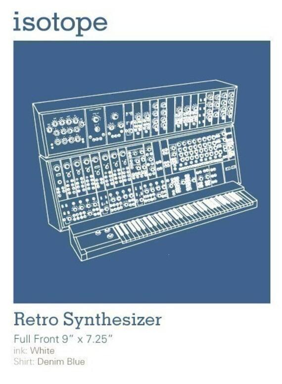Retro Electronic Music Synthesizer T-shirt SIZES - S,M,L,XL